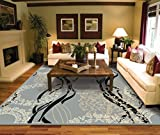 Large Rugs for Living Room 8x10 Contemporary Gray Clearance Area Rugs Under 100 Prime Rug