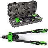 DoubleSun 14-Inch Hand Riveter Rivet Gun Nut Setter kit-6 PCS Metric & SAE Mandrels(M6 M8 M10& 1/4-20 5/16-18 3/8-16) and 90 PCS Rivnuts