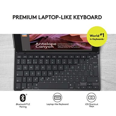 Logitech-Slim-Folio-with-Integrated-Bluetooth-Keyboard-for-iPad-5th-and-6th-Generation-Black