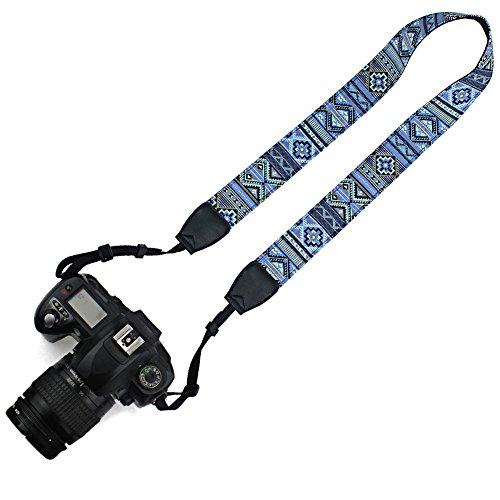 Elvam Canvas Camera Neck Shoulder Strap Belt for Men/Women Compatible with Universal DSLR/SLR/Nikon Canon Sony Olympus Etc, Pattern Striped
