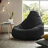 Black XL Size Bean Bag Chair Cover Only (Without Bean Fillers) Protective Liner from InkCraft