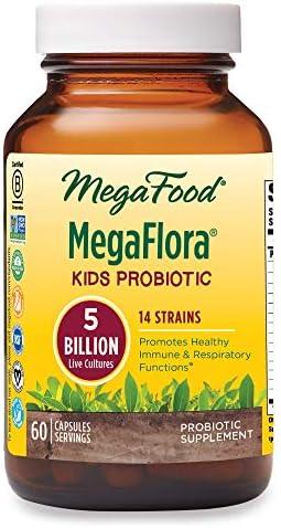 MegaFood, Kids N' Us MegaFlora, Probiotic Supplement for Children with 5 Billion CFU, 60 Servings (60 Capsules) 1