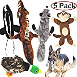 Jalousie 5 Pack Dog Squeaky Toys Bundle Puppy Plush Toys Puppy Squeaky Toys Small Medium Large Dog Pets (5 Pack Medium Large Breeds)