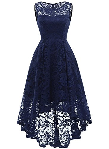 71YHNRaSzVL Good quality lace, soft, stretch, light weight and skin-friendly Style: High-Low design, wide straps, lace floral, back zipper Occasion: Wedding Party, Hosting, Bridesmaid Dresses, Cocktail, Causal Wear, Homecoming