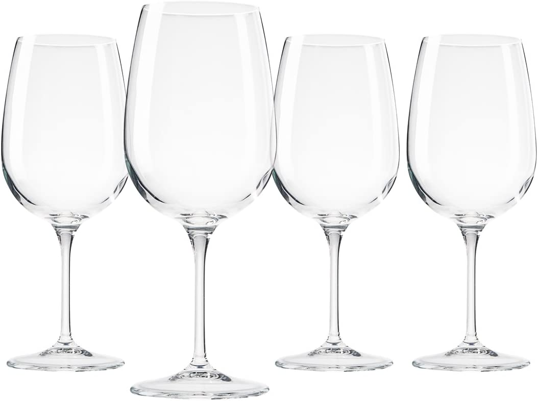 Amazon Com Bormioli Spazio Large Wine Glasses Clear 17 Oz Set Of 4 Wine Glasses