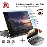 CaseBuy Anti-Blue Anti-Glare Light Screen Protector Filter Compatible Lenovo Yoga 930 C930 2-in-1 13.9' Touch-Screen Laptop & Keyboard Cover Ultra Thin TPU, Eye Protection Kit for Yoga C930 Model