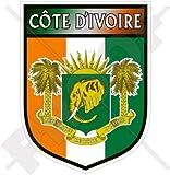 """IVORY COAST Shield, République de CÔTE D'IVOIRE 100mm (4"""") Vinyl Bumper Sticker, Decal"""