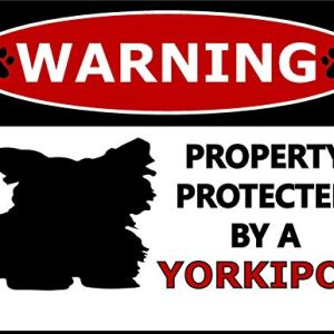 Top Shelf Novelties Warning Property Protected by A Yorkipoo (Silhouette) Laminated Dog Sign SP409 (Includes Bonus I Love My Dog Decal) 4