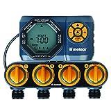 Melnor 15440-HDC Digital 4-Zone Water Timer, 4 Zone, 4 Zone