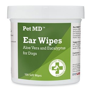 Pet MD - Dog Ear Cleaner Wipes - Otic Cleanser for Dogs to Stop Itching, Yeast and Mites with Aloe and Eucalyptus - 100 Count 13