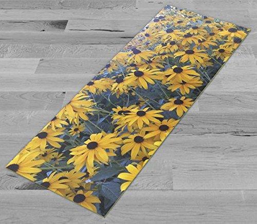 Pimp My Yoga Mat - Black Eyed Susan - Original Artwork 72x24 in Yoga Mat / Pilates Mat, 1/8 in Thick