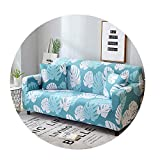 ZFADDS New Elastic Stretch Sectional Cover Wrap Sofa Cover Couch Cover L Shape Loveseat Single/Two/Three Seat,Color 18,3-Seater 190-230Cm