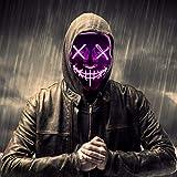 FuturePlusX Halloween Led Mask, Glow Scary LED Mask Cosplay Light up Mask White