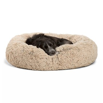 Best-Friends-by-Sheri-DNT-SHG-TAU-3030-VP-Luxury-Shag-Fuax-Fur-Donut-Cuddler-Multiple-Sizes--Donut-Cat-and-Dog-Bed-30-x-30-Taupe