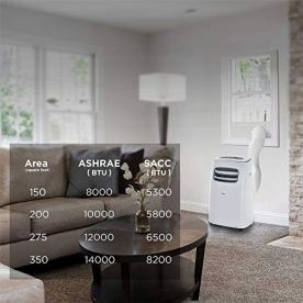 Midea-Smart-3-in-1-Portable-Air-Conditioner-Dehumidifier-Fan-for-Medium-Rooms-up-to-275-sq-ft-12000-BTU-6500-BTU-SACC-control-with-Remote-Smartphone-or-Alexa