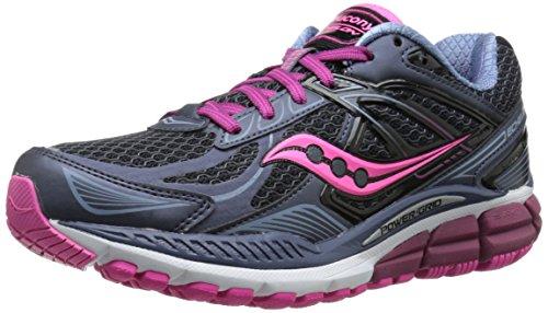 Saucony Women's Echelon 5 Running Shoe, Grey/Pink, 7 M US