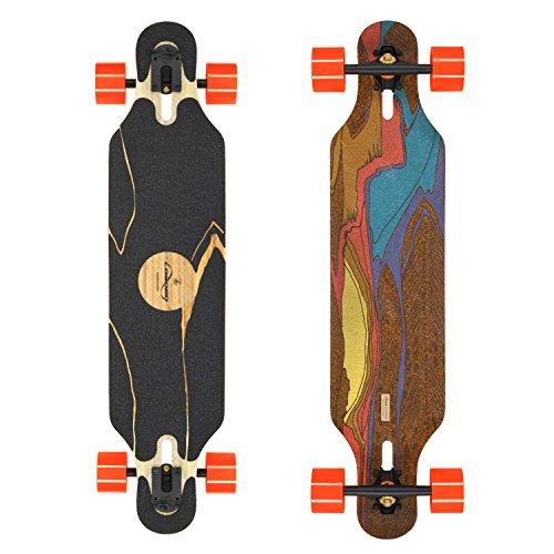 Loaded Boards Icarus Bamboo Longboard Skateboard Complete w/80mm 80a Kegels (Flex 1)