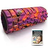 321 STRONG Foam Roller - Medium Density Deep Tissue Massager - Muscle Massage + Myofascial Trigger Point Release - Includes 4K eBook - Sunrise