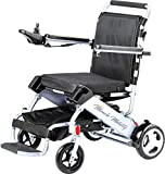 Miracle Mobility Freedom Series Gold Electric Folding Mobility Wheelchair with Two 180W Motors and 24V, 240Wh Lithium Ion Battery, Silver
