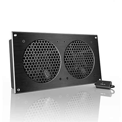 AC Infinity AIRPLATE S7, Quiet Cooling Fan System 12' with Speed Control, for Home Theater AV Cabinets