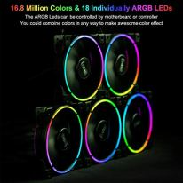 CP3-Case-Fans-120mm-Addressable-RGB-PC-Cooling-Fans-Dual-Lighting-Loop-Quiet-Fans-Compatible-with-Aura-Sync-PWM-PC-Fan-for-Computer-Case-Liquid-Radiator-Fan-Adjustable-Speed-1000-1800RPM-5-Packs