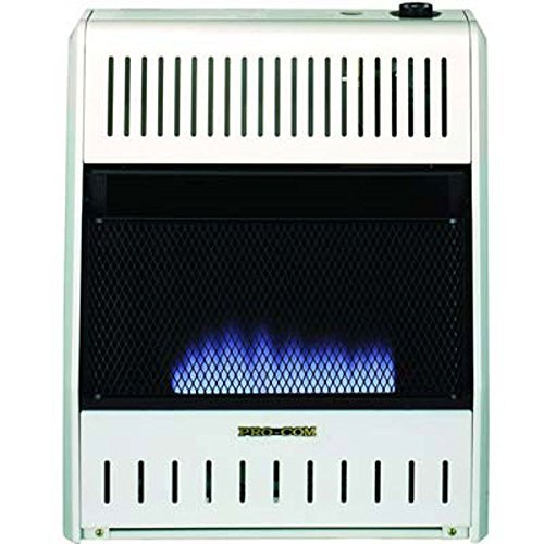 ProCom MNSD300TBA-BB Dual Propane/Natural Gas Blue Flame Vent-Free Gas Space Heaters, 30,000 BTU, Blower and Base Included