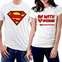 PicOnTshirt I am With Superman Couple T-shirts