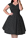 Product review for Nemidor Women's 1950s Style Polka Dot Pattern Vintage Plus Size Swing Dresss