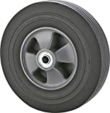 Rocky Mountain Goods Solid Rubber Hand Truck Wheel 10'- 5/8' axle Size - Flat Free Solid Rubber Replacement tire for Hand Truck, cart, Power Washer, Dolly, Compressor - 660 lbs. Load (10')
