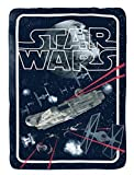 Star Wars Classic Space Battle Flannel/Silk Touch 62' x 90' Twin Blanket