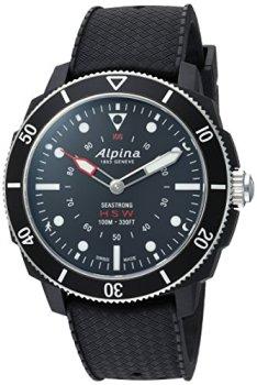 Alpina Men's AL-282LBB4V6 Horological Smart Watch Analog Display Quartz Black Watch