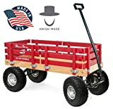 Berlin Flyer Ride Sport Wagon for Kids, All Terrain - Amish Made In the USA - Huge No-Flat Tires - No-Pinch Handle & No-Tip Steering, 300 lb Limit - F410-SS Wagon