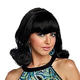 Dreamgirl Women's Decades Flip Wig, Black, O/S