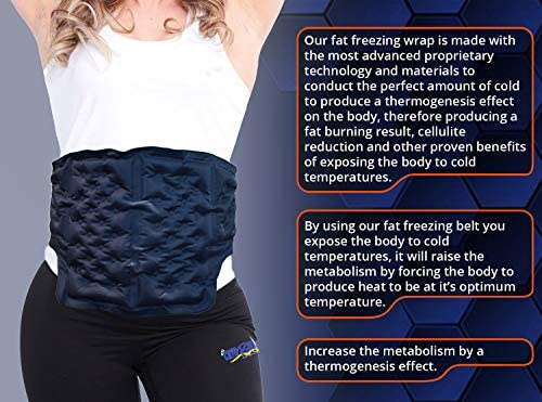 CRYOBOD Fat Freezing Belt |Cold Body Sculpting -Cold Wrap/Belt | Cold Sculpt Target Belly-Waist & Love Handles | Tone Up Stomach | Waist Trainer-Ultimate Freeze Wrap Skin-Safe Cryolipolysis 2