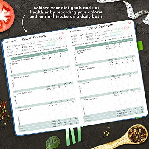 Clever Fox Food Journal - Daily Food Diary, Meal Planner to Track Calorie and Nutrient Intake, Stick to a Healthy Diet & Achieve Weight Loss Goals 6