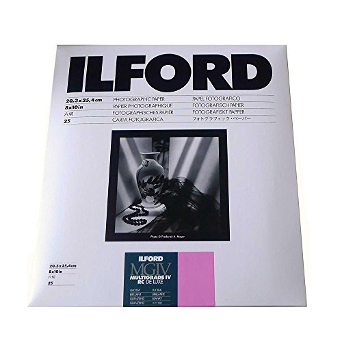 Ilford Multigrade IV RC Deluxe Resin Coated VC Variable Contrast Black & White Enlarging Paper – 8×10-25 Sheets – Glossy Surface