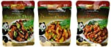 Panda Brand Ready In Minutes Asian Stir Fry Sauce 3 Flavor Variety Bundle: (1) Broccoli Beef, (1) Orange Chicken, and (1) Kung Pao Chicken, 8 Oz. Ea. (3 Pouches Total)