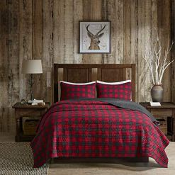 Red Buffalo Check Plaid Quilt Set