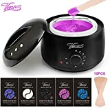 Wax warmer, Home Waxing Hair Removal kit, Vennco Brazilian Wax Melting Pot with 5 Bags Hard Wax Beans & 10 Applicator Sticks