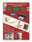 20 Sheets DIY A4 Inkjet Water Slide Decal Paper Sheets Transparent Clear for Inkjet Printer Transfer Paper