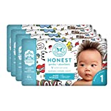 The Honest Company Baby Diapers with Trueabsorb Technology, Forever Yours, Size 1, 140 Count