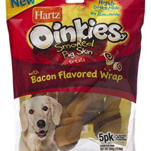 Hartz Oinkies Natural Pig Skin Twist Dog Treat Chews 9