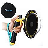 TELESIN 6''Dome Port Camera Lens Transparent Cover for GoPro Hero 7 Black, Hero 6 Hero 5 Black Hero 2018, with Waterproof Housing Case Pistol Trigger Floating Hand Grip, Underwater Diving Accessories