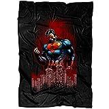 """UTAMUGS Cool Superman Soft Fleece Throw Blanket, Superman Superhero Fleece Luxury Blanket (Large Blanket (80""""x60""""))"""