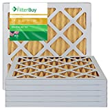 FilterBuy 12x12x1 MERV 11 Pleated AC Furnace Air Filter, (Pack of 6 Filters), 12x12x1 - Gold