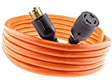 MPI Tools Nema L14-30 Generator Power Cord 4 Wire 10 Gauge 125/250v 30 Amp 7500 watts (20 Feet)