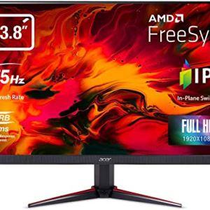 Acer Nitro VG240YB 23.8 inch Full HD IPS Monitor I AMD Radeon Freesync Technology I 1MS VRB I 75Hz Refresh I 2 x HDMI and 1 x VGA Ports