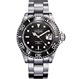 Davosa Swiss Made Dive Watch for Men - Ternos Ceramic Professional Automatic Watch with Analog Display and Unidirectional Luxury Bezel (16155550)