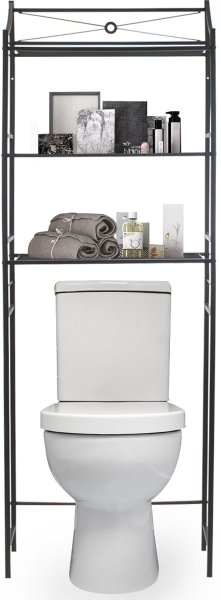 Sorbus over-the-toilet shelf is one of the great small bathroom storage ideas