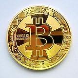 10-Pack Golden Bitcoin 2018 Commemorative Collectors Coin Souvenir Gift